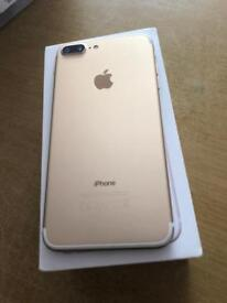 iPhone 7 Plus 32gb Gold Unlocked Apple warranty
