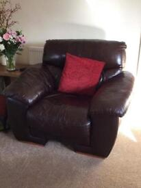 Brown Real leather chairs