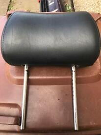 3x Leather Headrests