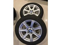 "BMW 5- 17""; Winter Tyres + Alloys 225/55/RF17"