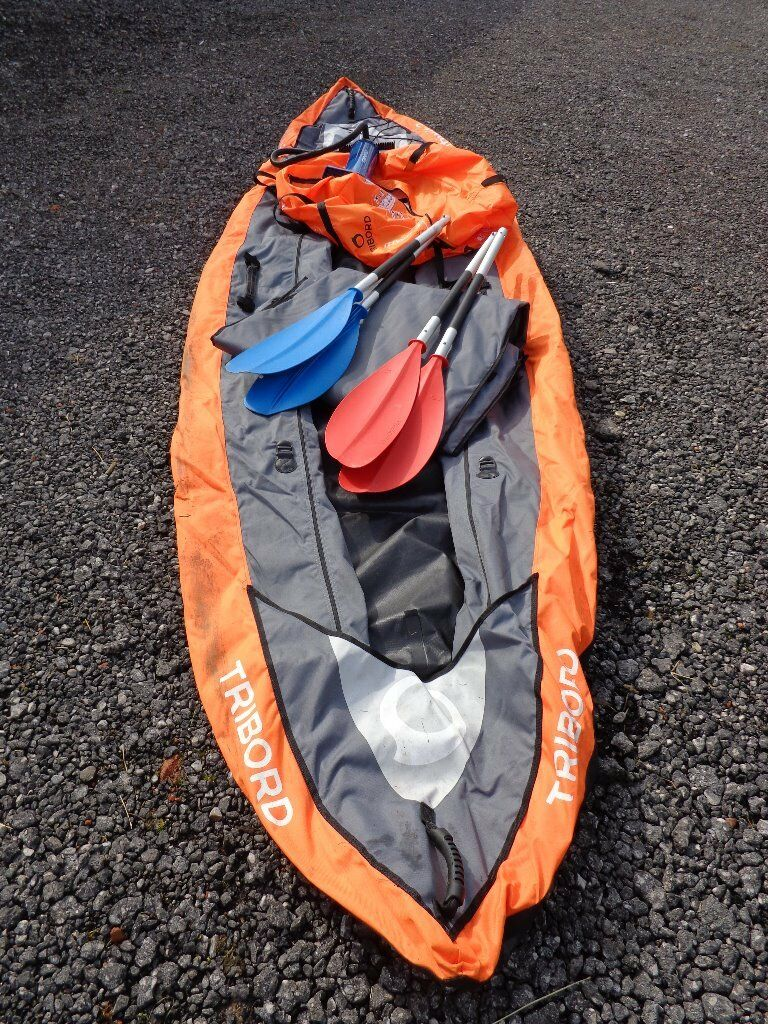 GBP220 As New Tribord Itiwit Inflatable Kayak 3 Man From Decathlon Collection Near Uttoxeter