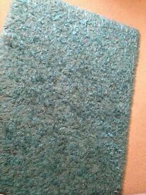 Teal Rug 110 x 160 including x2 teal cushions