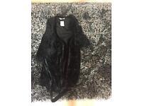 Black monsoon velvet dressing gown new