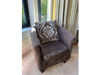 Dunelm brown bucket chair for sale