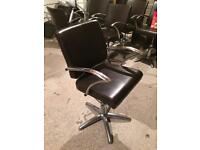 Hairdressing work station and chairs