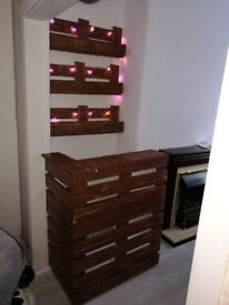 home bar from recycling pallets in Manchester collection in person £25