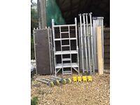 Boss Youngman Alumnium scaffold tower narrow 6.2M WH x 1.8M
