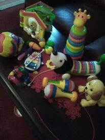 A quantity of top brand Infant learn & play toys,never used baby too young & moving house unwanted