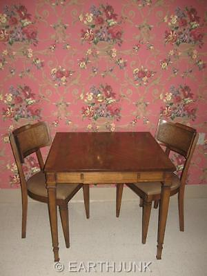 Oxford Danish Modern Table & 4 Upholstered Chairs Mid Century Style