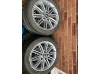 BMW m-tech alloys with tyres.