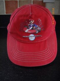 MARIO KART Wii Kids Red Baseball 7-10 Years Cap
