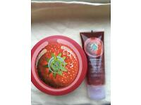 The Body Shop Strawberry Body Butter and Body Polish