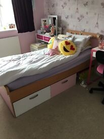 Girls Bed with Storage