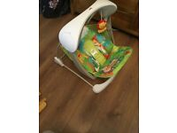 Fisher-Price Rainforest Take Along Baby Swing and Seat Set / Rocker / Vibrat - LIKE NEW CONDITION