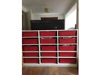 Large heavy 15 drawer storage unit