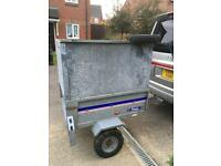 Franc 4x3 trailer with heightened sides