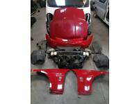 NISSAN 350Z COUPE COMPLETE FRONT END RED 2006 *BREAKING*