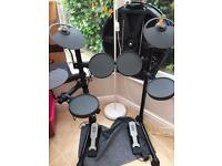 Yamaha DTX 400K electric drum kit with stool