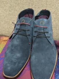 Men's Suede Desert Boots French Blue Size10/44