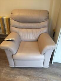 G Plan leather reclining chair