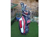 Dunlop golf bag and clubs +extras