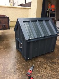 New dog kennel, removable roof, for small breed, fully insulated, pvc inside for easy cleaning,
