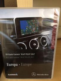 GPS Garmin SD Card. Map Pilot 2017 for Mercedes Cars V8. As new condition.