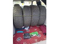 4 x insa turbo rangers part worn not sure on tread as i have not got a tyre guege