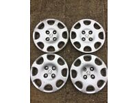 "Peugeot 14"" wheel trims. Used, ideal for spares!!"