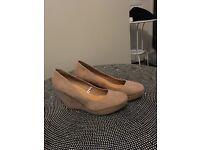 Nude Wedge Heels size 7