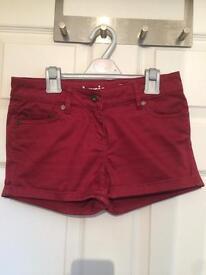 Johnnie B (Boden) Girls Dark Red Shorts Waist: 26 inches