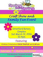 Stratford family fun event and craft show- vendors needed