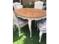 French Style table and 4 chairs