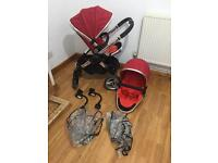 Icandy Peach double/single pushchair excellent condition