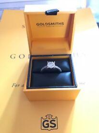 Engagement Ring 18ct White Gold 0.50 ct Diamond