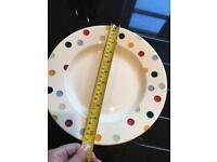 4x Emma Bridgewater dotty plates