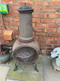 Garden chimney/fire pit bbq
