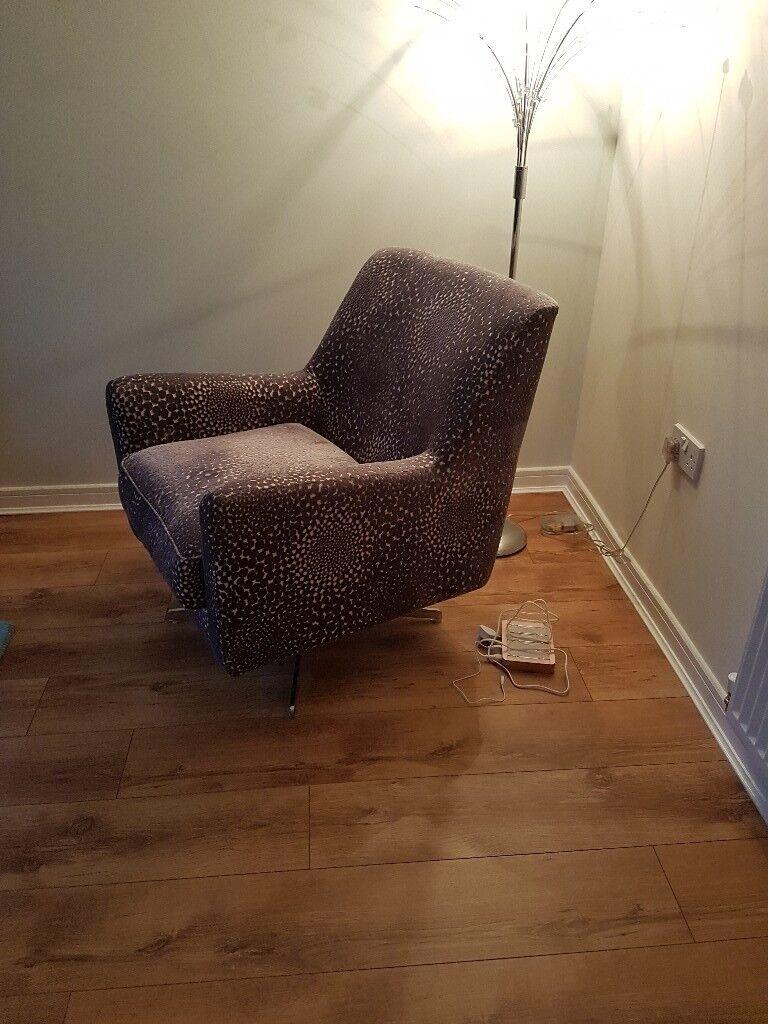 grey pattern swivel chair sophia dfs in cumbernauld glasgow