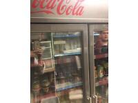 Double Coca-Cola fridge