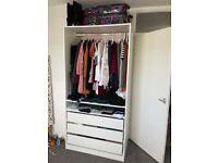 Ikea PAX wardrobe white 100x201cm