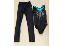 Girls Gymnastics Leotard and footless tights