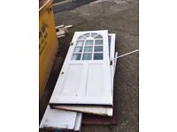 Free used old wooden front doors - ready for collection