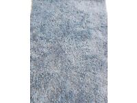 Rug - Long pile, shaggy, soft, Blue 170cm x 110cm