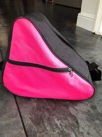 Pink bag for ice skates