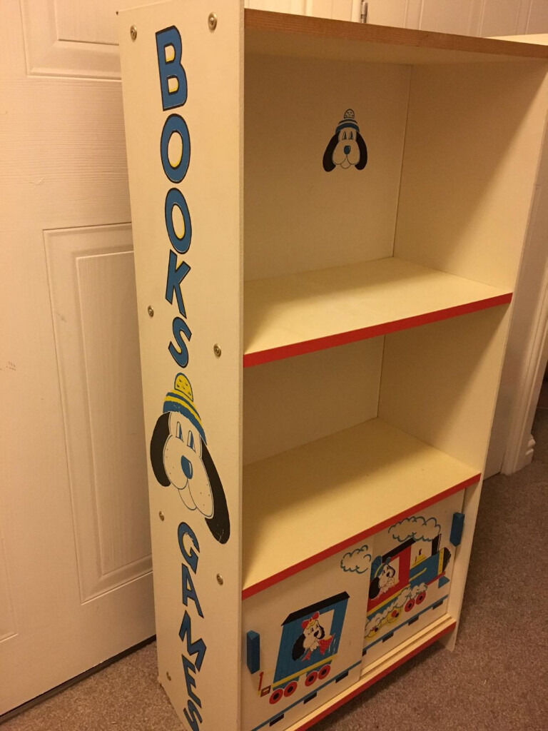 childs milne bookcases aspace s standard wooden children childrens bookcase kids blue child prussian htm