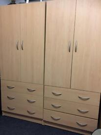 Beech wardrobe £75 each delivered