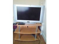 """32"""" LCD TV + freeview box + TV stand"""