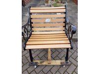 garden seat single seat