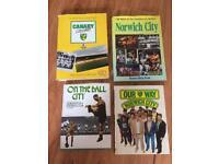 4 vintage Norwich city football books