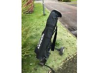 Donnay golf bag with complete set of clubs and trolley £40 ono
